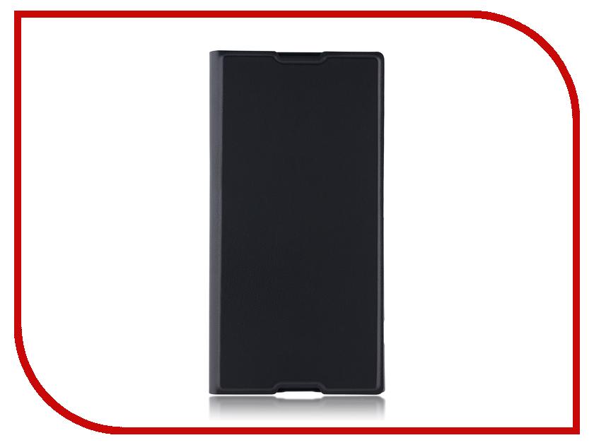 Аксессуар Чехол для Sony Xperia XA1 Plus BROSCO PU Black XA1P-BOOK-BLACK аксессуар защитное стекло sony xperia xa1 plus brosco 0 3mm black xa1p 3d glass black
