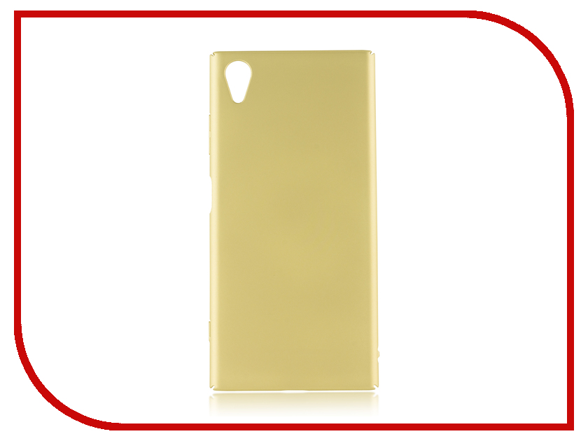 Аксессуар Чехол для Sony Xperia XA1 Plus BROSCO Gold XA1P-4SIDE-ST-GOLD аксессуар защитное стекло для sony xperia xa1 plus brosco full screen gold xa1p glass gold