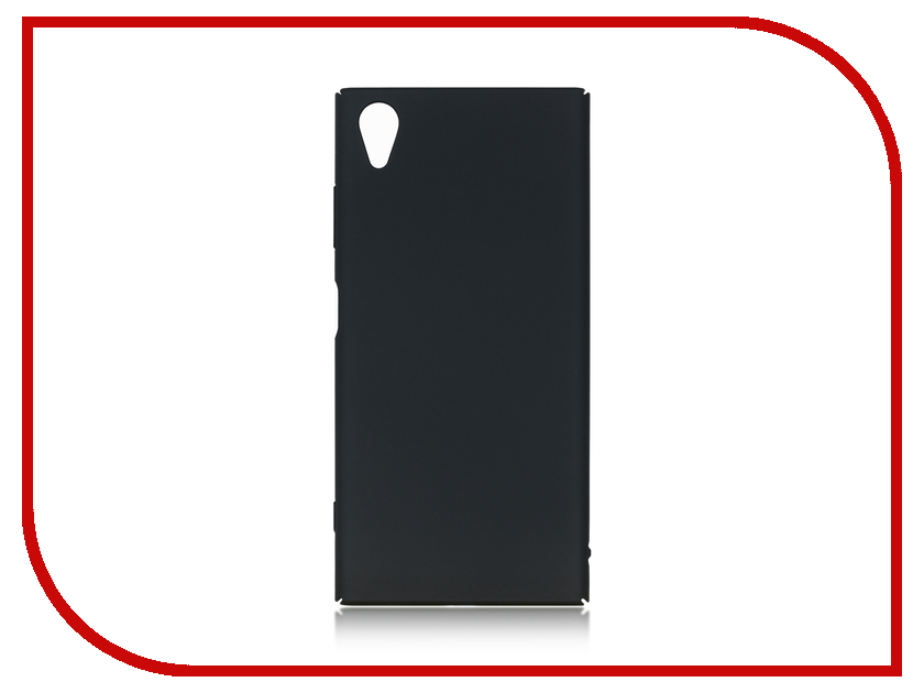 Аксессуар Чехол для Sony Xperia XA1 Plus BROSCO Black XA1P-4SIDE-ST-BLACK аксессуар защитное стекло для sony xperia xa1 plus brosco full screen gold xa1p glass gold