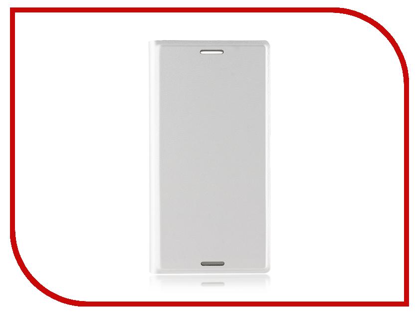 Аксессуар Чехол Sony Xperia XZ1 Compact BROSCO PU Silver XZ1C-BOOK-SILVER аксессуар чехол книжка sony xperia z3 compact brosco pu red z3c book 03 red