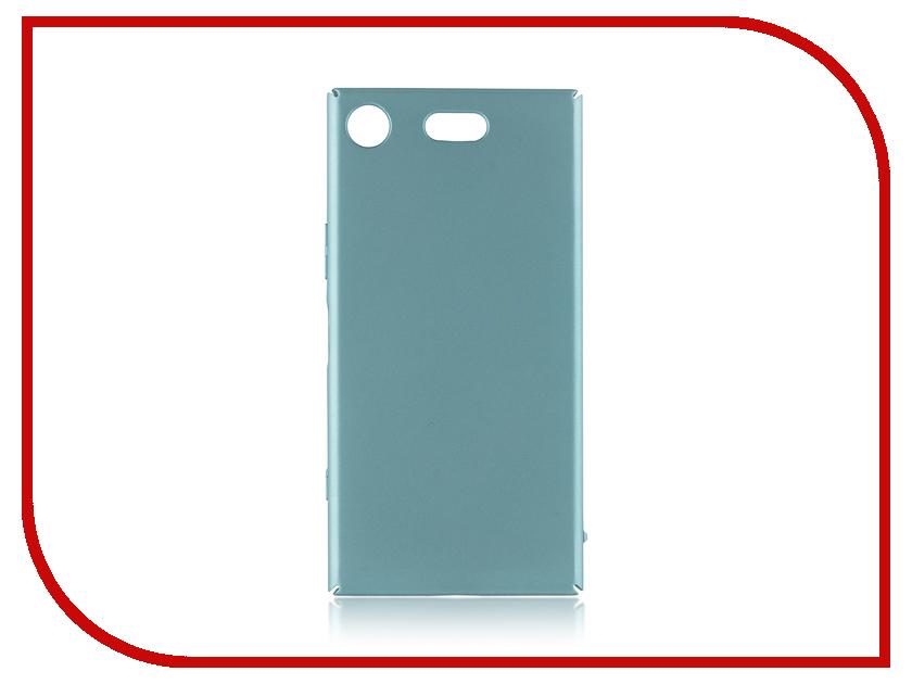 Аксессуар Чехол для Sony Xperia XZ1 Compact BROSCO Blue XZ1C-4SIDE-ST-BLUE spa pharma минеральный шампунь для сухих и поврежденных волос spa pharma 500 мл