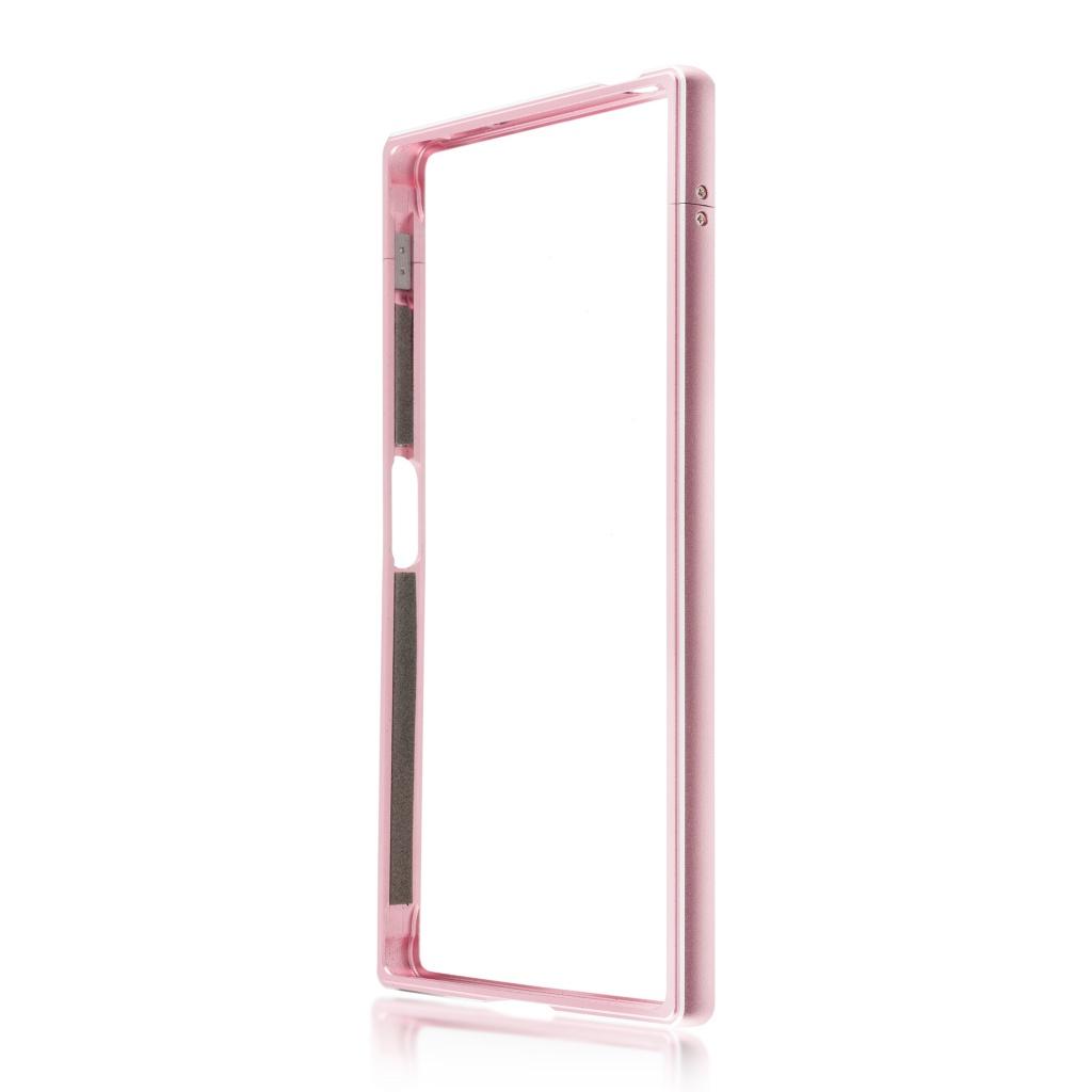 Аксессуар Чехол Brosco для Sony Xperia XZ1 Metal Pink XZ1-BMP-PINK
