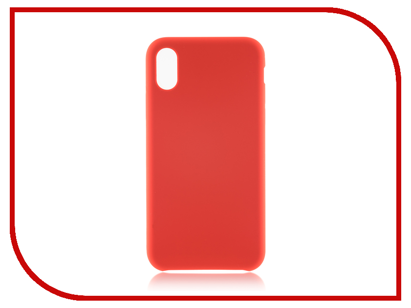 Аксессуар Чехол BROSCO Soft Rubber для APPLE iPhone X Red IPX-SOFTRUBBER-RED аксессуар чехол apple iphone se leather case red mr622zm a