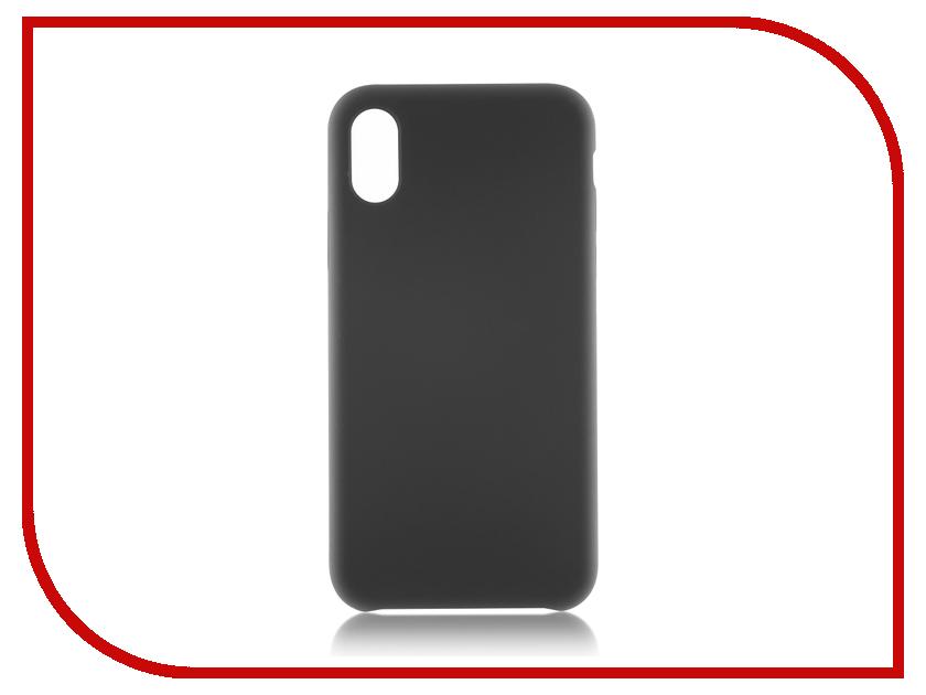 Аксессуар Чехол BROSCO Soft Rubber для APPLE iPhone X Grey IPX-SOFTRUBBER-GREY brosco grey monopod 01 grey