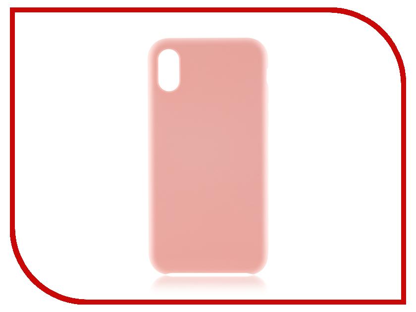 Аксессуар Чехол BROSCO Soft Rubber для APPLE iPhone X Pink IPX-SOFTRUBBER-PINK