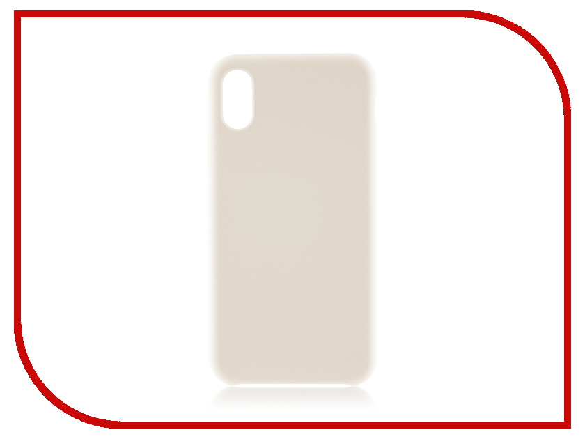 Аксессуар Чехол BROSCO Soft Rubber для APPLE iPhone X White IPX-SOFTRUBBER-WHITE
