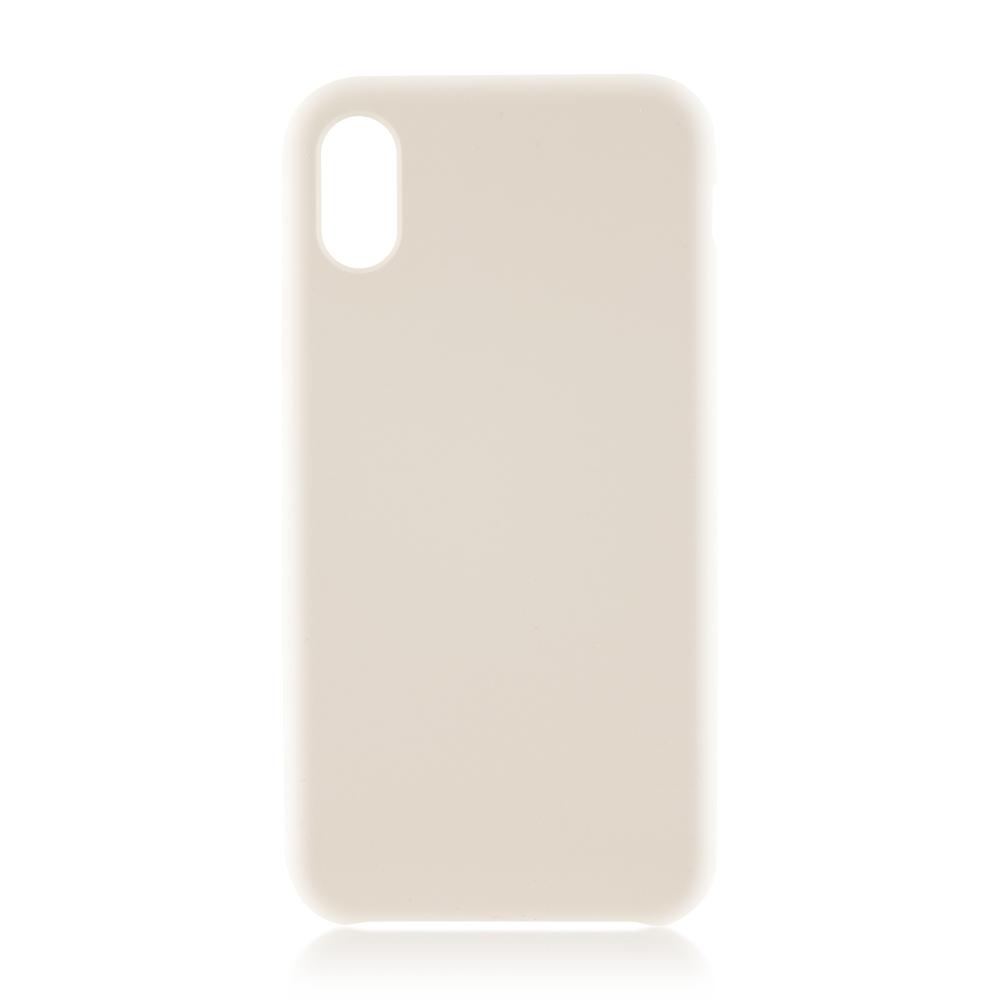 Аксессуар Чехол Brosco для APPLE iPhone X Soft Rubber White IPX-SOFTRUBBER-WHITE