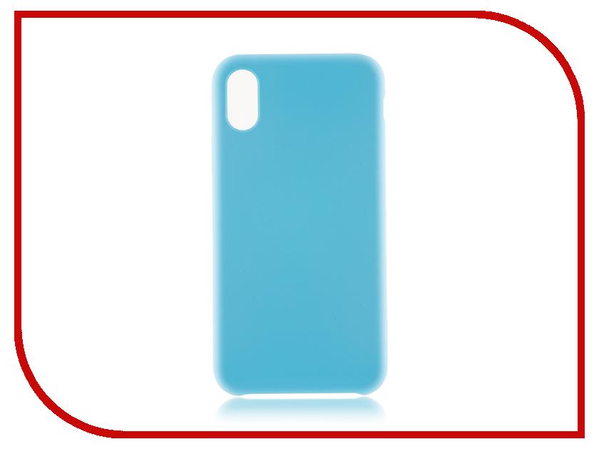 Аксессуар Чехол BROSCO Soft Rubber для APPLE iPhone X Light Blue IPX-SOFTRUBBER-BLUE аксессуар чехол elari для elari cardphone и iphone 6 plus blue