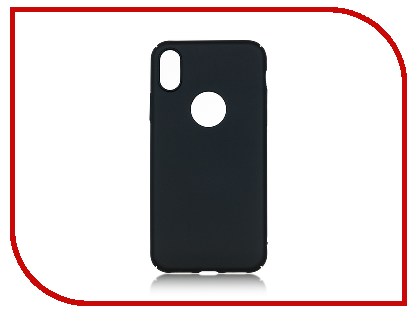Аксессуар Чехол BROSCO Soft Touch для APPLE iPhone X Black IPX-4SIDE-ST-BLACK