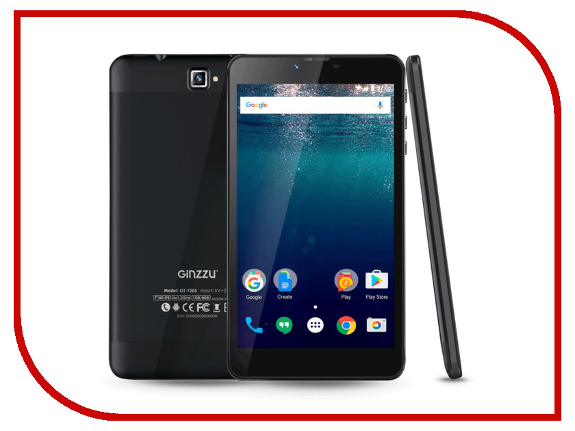 Планшет Ginzzu GT-7205 Black (Spreadtrum SC7731G 1.3 GHz/1024Mb/8Gb/GPS/3G/Wi-Fi/Bluetooth/Cam/7.0/1280x800/Android) планшет dexp ursus 7mv4 3g black 0807193 spreadtrum 5735 1 2 ghz 1024mb 8gb wi fi 3g bluetooth gps cam 7 0 1024x600 android