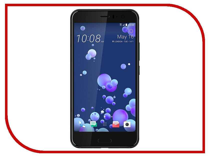 Сотовый телефон HTC U11 128Gb Black 99HAMB123-00 gangxun htc u11 case card слоты кошелек кожа pu flip kickstand anti shock cover для htc u11