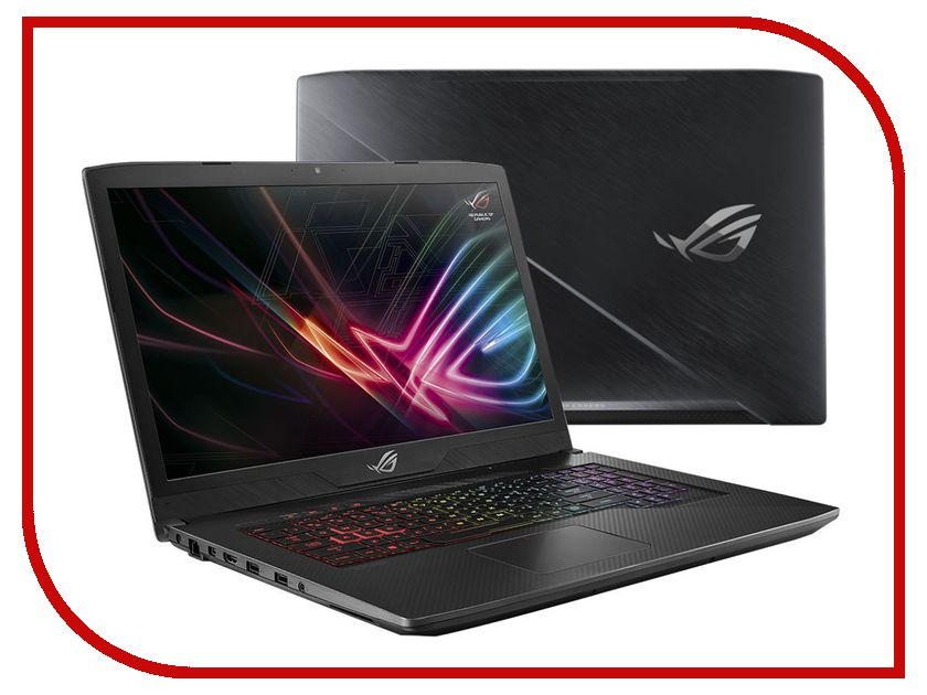 Ноутбук ASUS GL703VD-EE123T 90NB0GM1-M02270 (Intel Core i7-7700HQ 2.8 GHz/8192Mb/1000Gb + 256Gb SSD/No ODD/nVidia GeForce GTX 1050 4096Mb/Wi-Fi/Bluetooth/Cam/17.3/1920x1080/Windows 10 64-bit) gl703vd gc029t