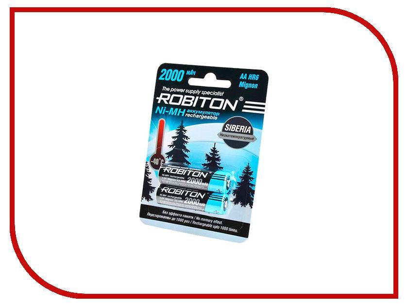 Аккумулятор AA - Robiton Siberia 2000MHAA-2 14875 BL2 (2 штуки) аккумулятор aa robiton 2850 mah ni mh 2 штуки
