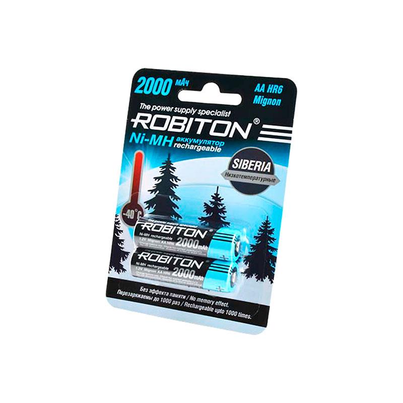 Аккумулятор AA - Robiton Siberia 2000MHAA-2 14875 BL2 (2 штуки)
