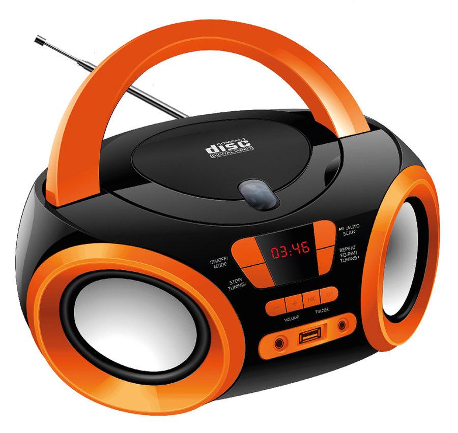 Магнитола Hyundai H-PCD120 Black-Orange