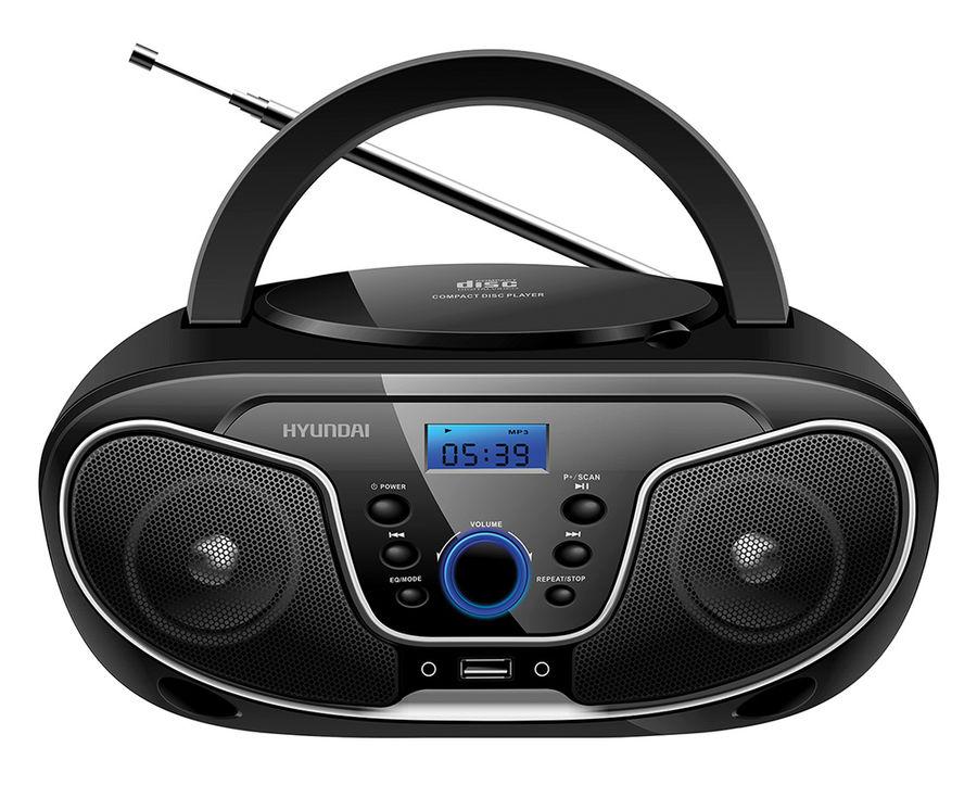 Магнитола Hyundai H-PCD140 Black-Grey