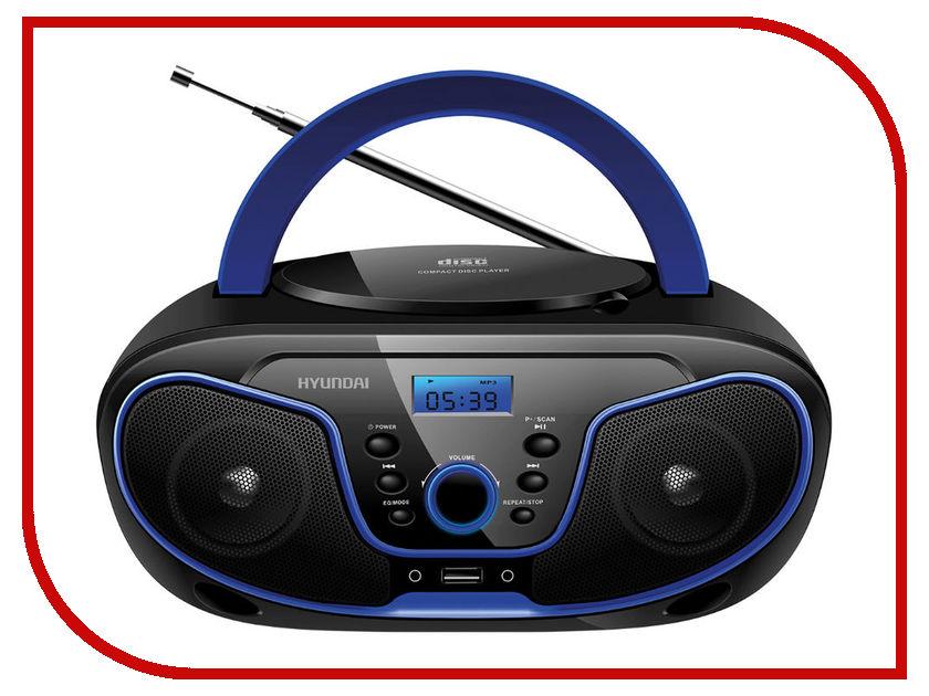Магнитола Hyundai H-PCD160 Black/Blue радиочасы hyundai h 1504 black orange