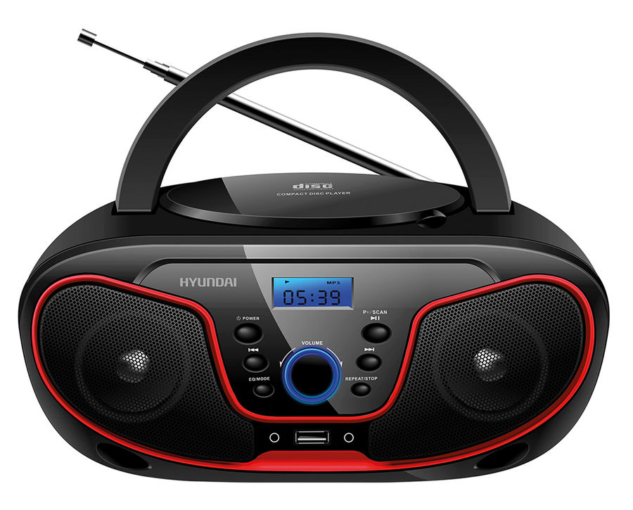 Магнитола Hyundai H-PCD180 Black-Red