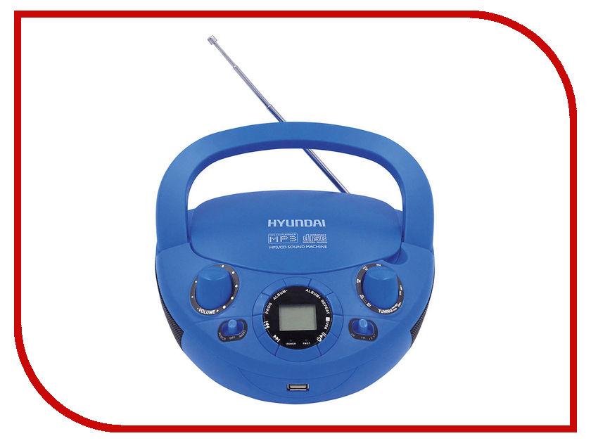 Магнитола Hyundai H-PCD220 Blue телевизор hyundai h led32r401bs2