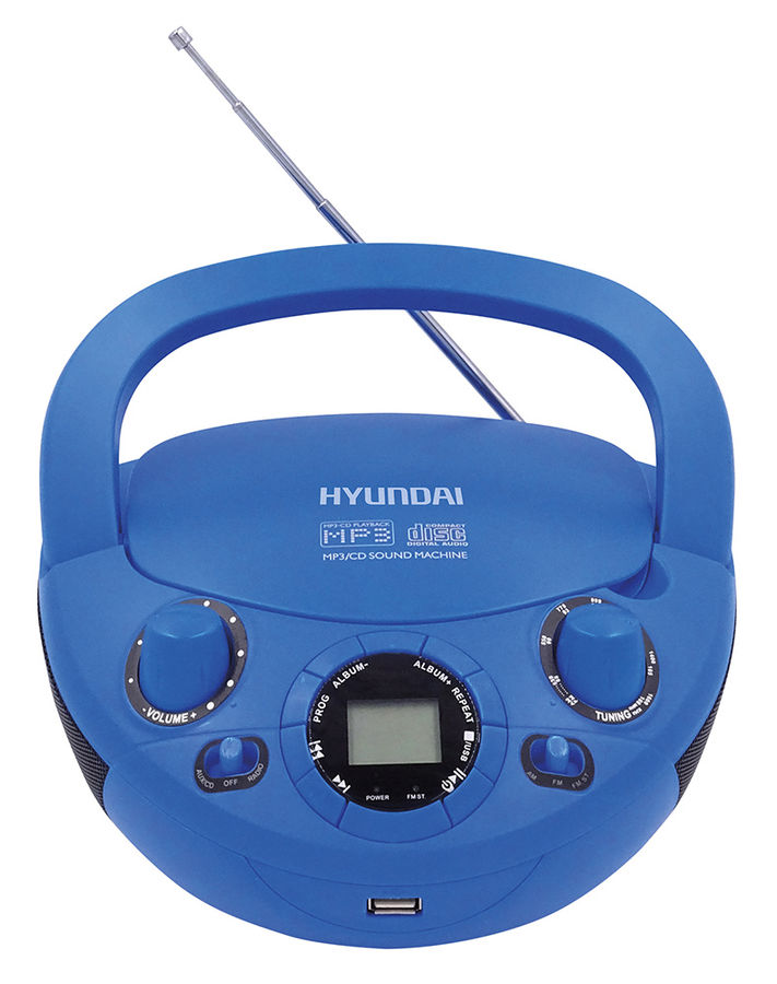 Магнитола Hyundai H-PCD220 Blue