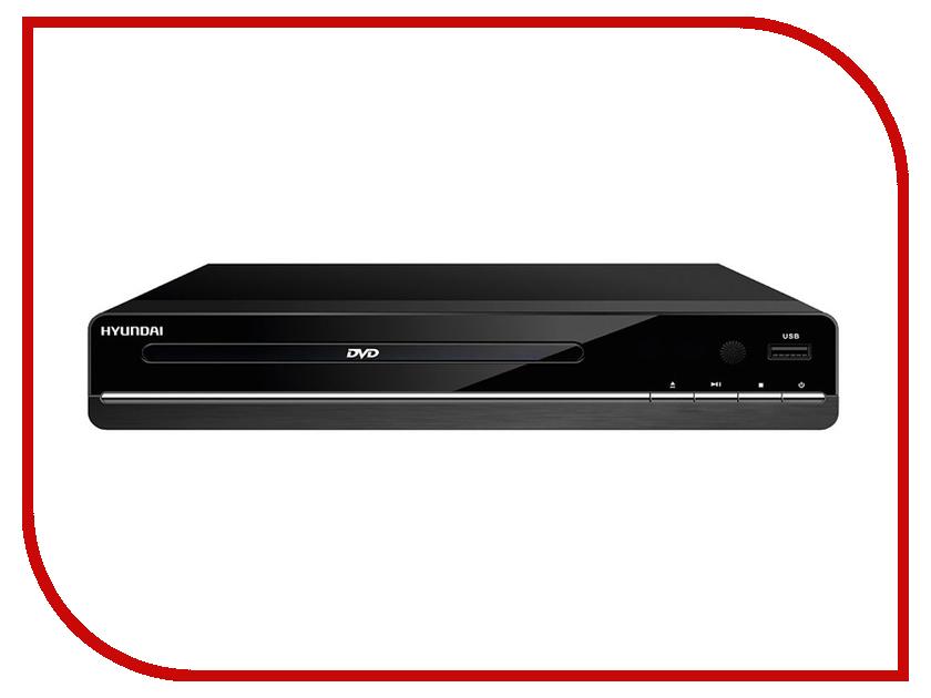 Плеер Hyundai H-DVD180 Black телевизор hyundai h led32r401bs2