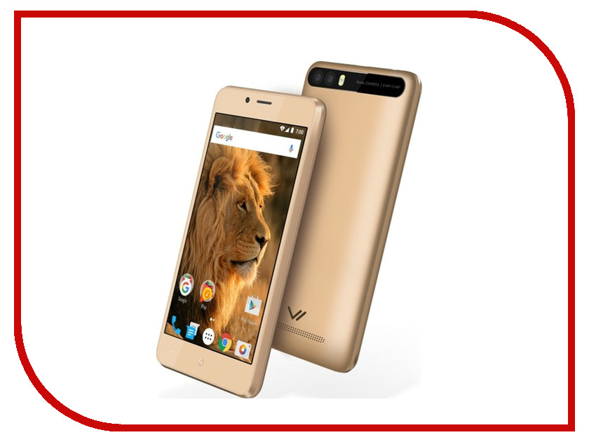 Сотовый телефон Vertex Impress Lion Dual Cam Gold телефон vertex k203