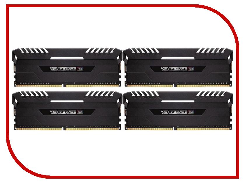 Модуль памяти Corsair Vengeance RGB DDR4 DIMM 3000MHz PC4-24000 - 64Gb KIT (4x16Gb) CMR64GX4M4C3000C16 corsaircmx4gx3m1a1333c9