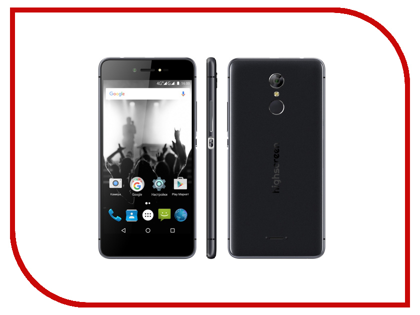 Сотовый телефон Highscreen Fest Pro Black сотовый телефон highscreen easy power pro red