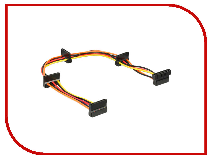 Аксессуар Кабель питания Gembird Cablexpert SATA 15-pin/F - 4x15-pin/M CC-SATAMF-03 sata 22 pin male to micro sata 16 pin female adapter