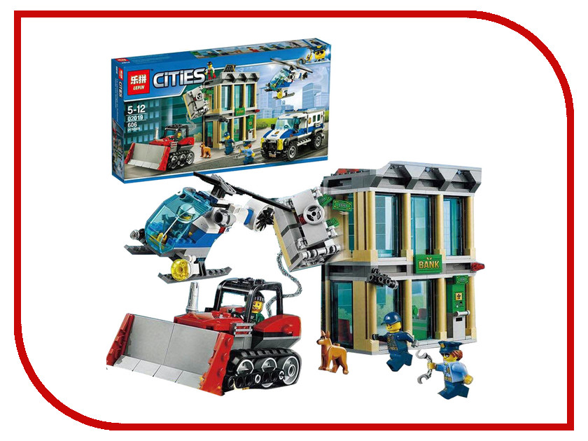 Конструктор Lepin Cities Ограбление на бульдозере 605 дет. 02019 конструктор lepin cities рыболовный катер 159 дет 02028
