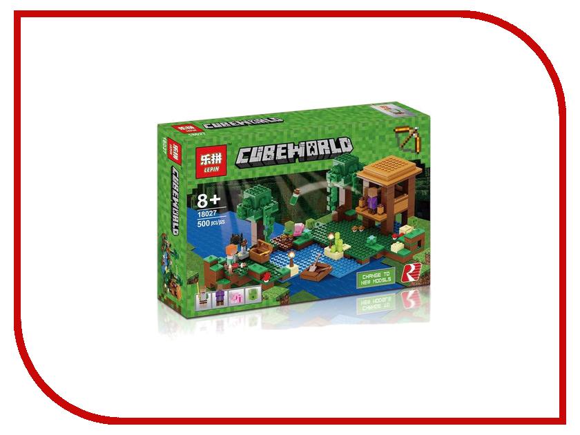 Конструктор Lepin Cube World Хижина ведьмы 500 дет. 18027 конструктор lepin спортивный лагерь дом на дереве 784 дет 01047