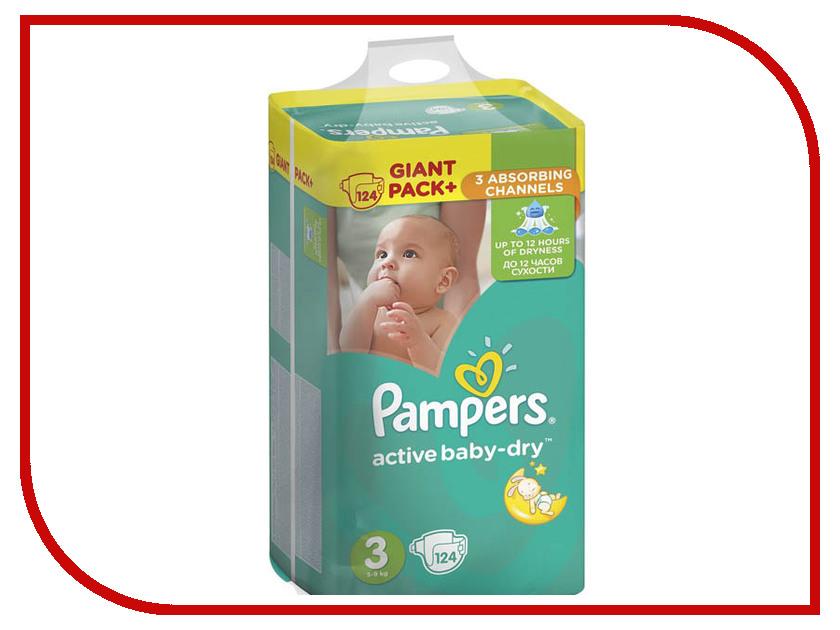 Подгузники Pampers Active Baby-Dry Midi 5-9кг 124шт 8001090459282 подгузники pampers active baby dry размер 4 7 14 кг 132 шт