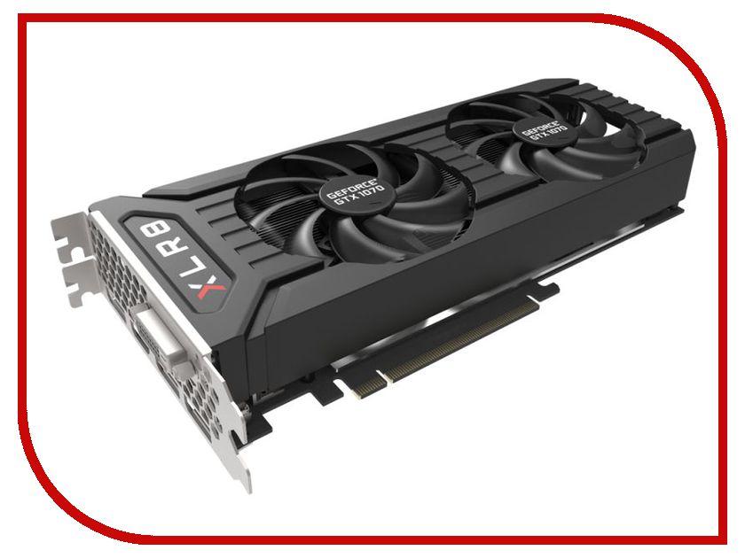Видеокарта PNY GeForce GTX 1070 XLR8 OC GAMING Twin Fan 1518Mhz PCI-E 3.0 8192Mb 8008MHz 256 bit 3xDP DVI HDMI HDCP KF1070GTXXR8GEPB