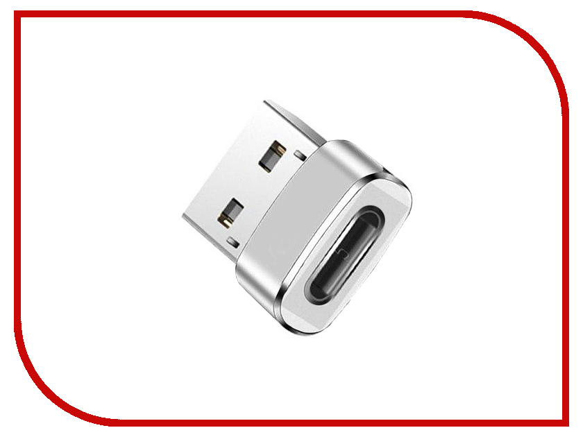 Аксессуар Red Line Адаптер Type-C - USB Silver кабель red line usb – usb type c 1m green