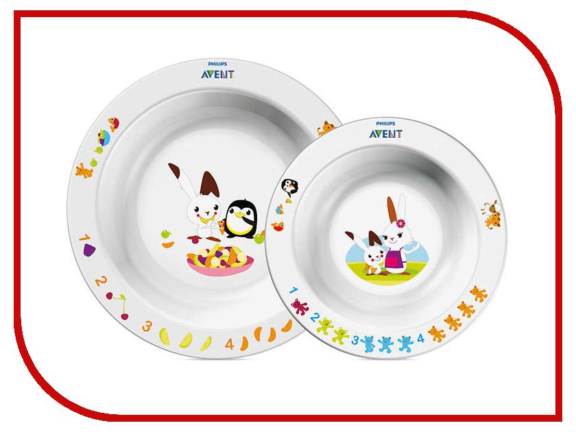 Набор тарелок Philips Avent SCF708/00 мультиварка philips hd3134 00 белый черный