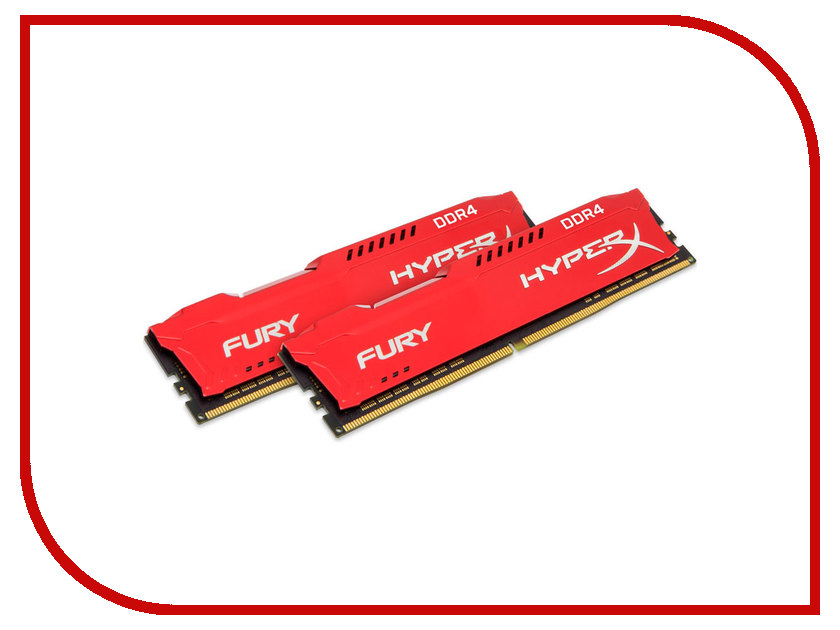 Модуль памяти Kingston HyperX Fury DDR4 DIMM 2133MHz PC4-17000 CL14 - 32Gb KIT (2x16Gb) HX421C14FRK2/32 ddr4 8gb kingston hyperx fury black