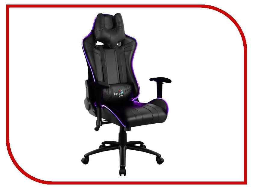 Компьютерное кресло AeroCool AC120 AIR RGB Black 0516335 aerocool v3x advance black edition компьютерный корпус