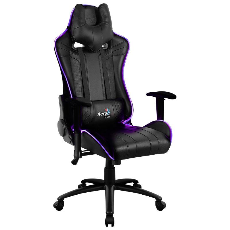 Компьютерное кресло AeroCool AC120 AIR RGB Black 0516335 цена