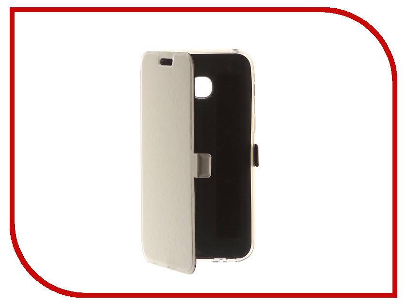 Аксессуар Чехол для Samsung Galaxy A3 2017 CaseGuru Magnetic Case Glossy White 99860 аксессуар чехол накладка samsung galaxy a3 2016 caseguru liquid 87798