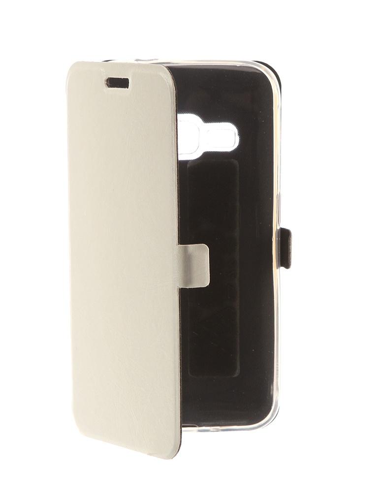 Аксессуар Чехол CaseGuru для Samsung Galaxy J1 2016 Magnetic Case Glossy White 101040 цена