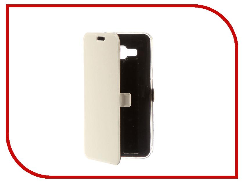 Аксессуар Чехол для Samsung Galaxy J3 2016 CaseGuru Magnetic Case Glossy White 100477 аксессуар защитное стекло samsung g925f galaxy s6 edge caseguru 3d 0 33mm white