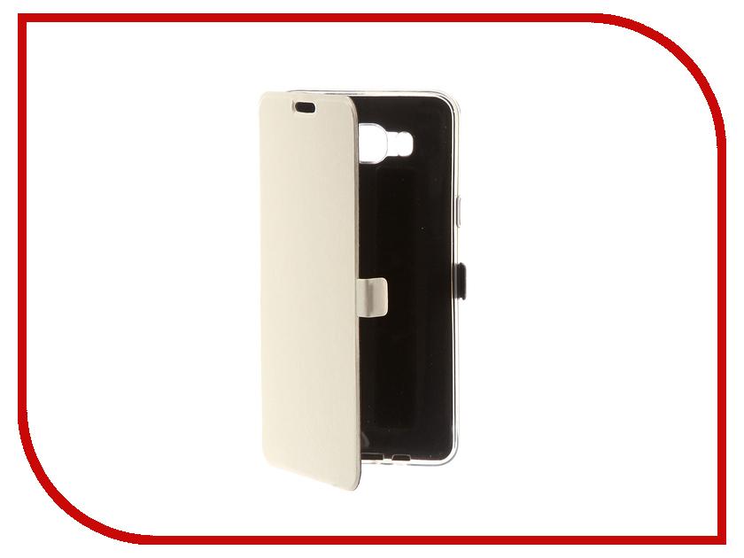 Аксессуар Чехол для Samsung Galaxy J7 2016 CaseGuru Magnetic Case Glossy White 100501 аксессуар защитное стекло samsung g925f galaxy s6 edge caseguru 3d 0 33mm white