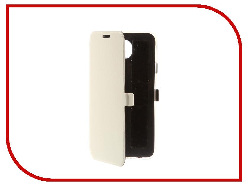 Аксессуар Чехол для Samsung Galaxy J7 2017 CaseGuru Magnetic Case Glossy White 99920 аксессуар защитное стекло samsung g925f galaxy s6 edge caseguru 3d 0 33mm white