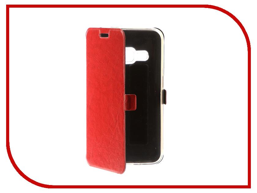 Аксессуар Чехол для Samsung Galaxy J1 2016 CaseGuru Magnetic Case Glossy Red 101041 аксессуар чехол для samsung galaxy j5 2016 caseguru magnetic case glossy black 100494