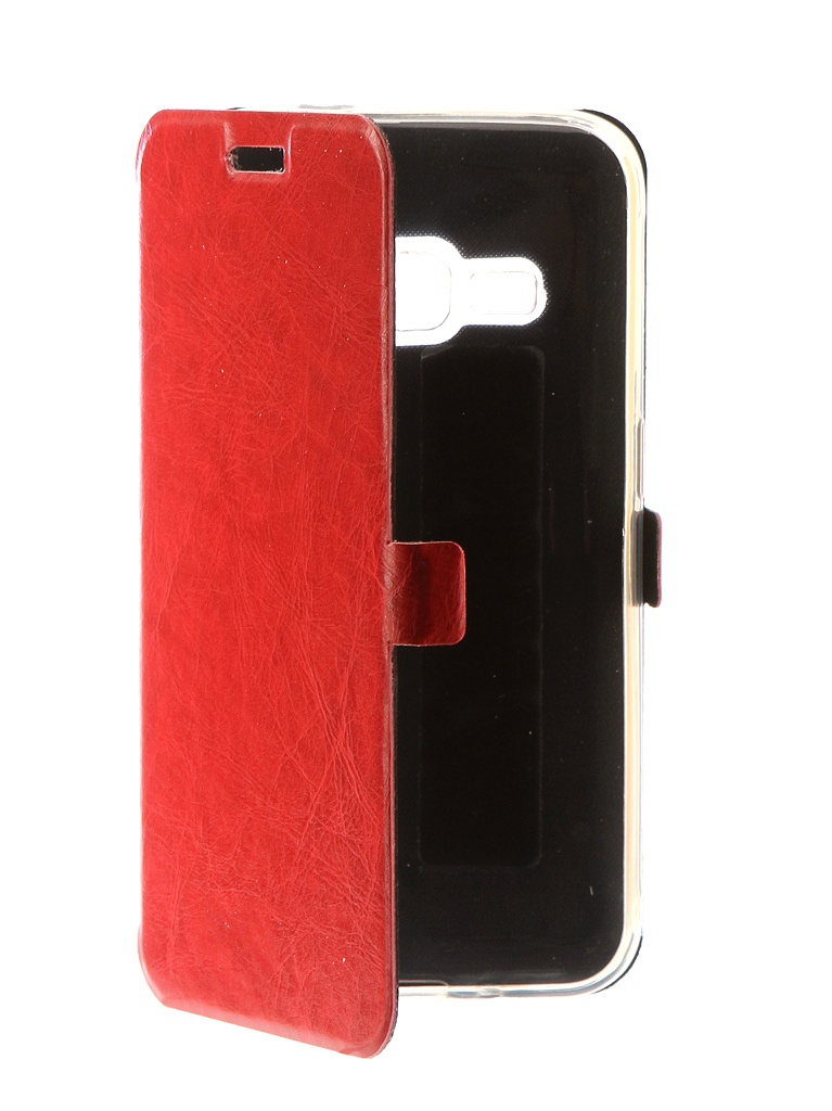 Аксессуар Чехол CaseGuru для Samsung Galaxy J1 2016 Magnetic Case Glossy Red 101041 цена и фото