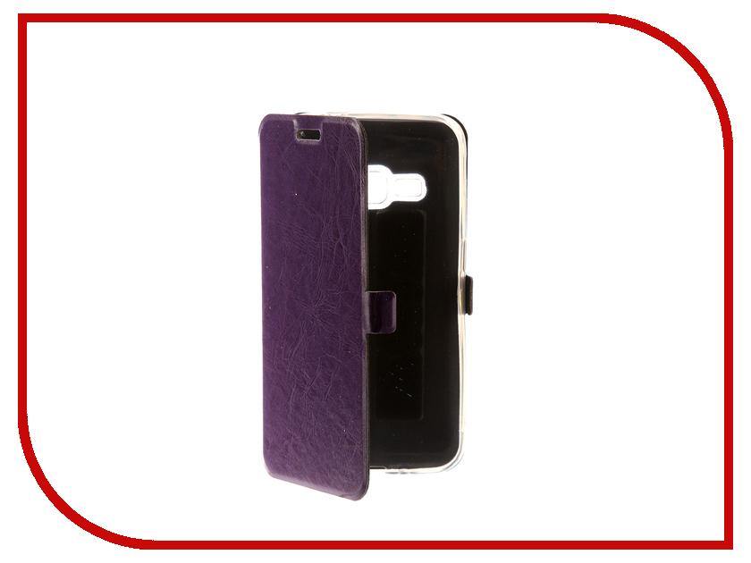 Аксессуар Чехол для Samsung Galaxy J1 2016 CaseGuru Magnetic Case Glossy Purple 101044 аксессуар чехол для samsung galaxy j5 2016 caseguru magnetic case glossy black 100494