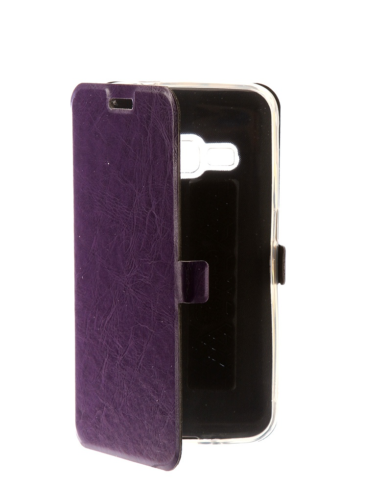 Аксессуар Чехол CaseGuru для Samsung Galaxy J1 2016 Magnetic Case Glossy Purple 101044