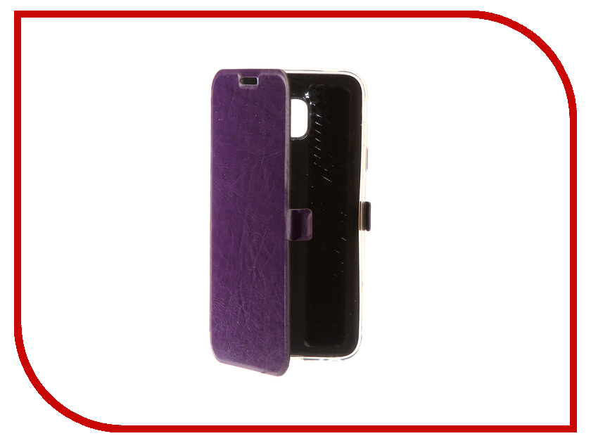 Аксессуар Чехол для Samsung Galaxy J3 2017 CaseGuru Magnetic Case Glossy Purple 99900 mooncase slim leather side flip wallet card slot pouch with kickstand shell back чехол для samsung galaxy a3 purple