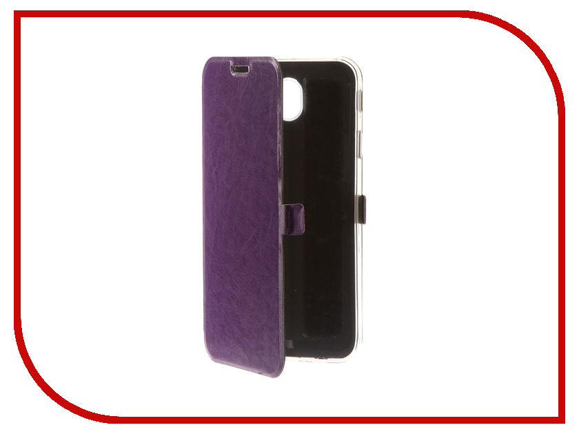 Аксессуар Чехол для Samsung Galaxy J7 2017 CaseGuru Magnetic Case Glossy Purple 99924 mooncase slim leather side flip wallet card slot pouch with kickstand shell back чехол для samsung galaxy a3 purple