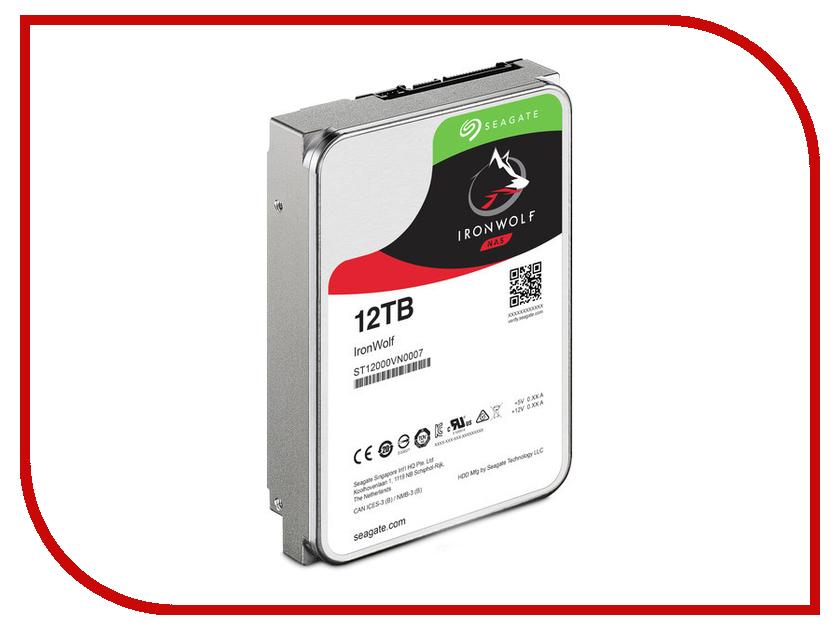 Жесткий диск 12Tb - Seagate IronWolf ST12000VN0007 жесткий диск 12tb seagate ironwolf pro st12000ne0007